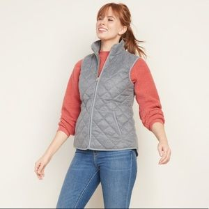 Old Navy Vest Quilted Gray